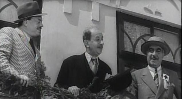 "Paul Calinescu, Grigore Vasiliu-Birlic, Mihai Fotino în ""Titanic Vals"" (Tudor Mușatescu("