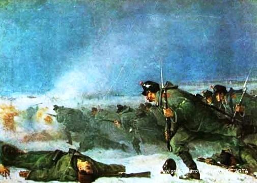 """""""Atacul de la Smârdan""""(fragment) de Nicolae Grigorescu"""