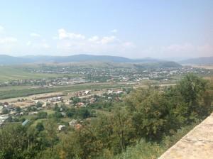 Vedere din cetate a oraşului Tg Neamţ