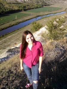 Cristina pe stâncile satului