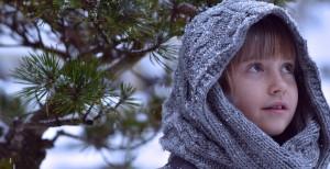 iarna, copila