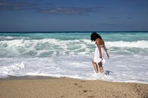 mare, plaja, fata