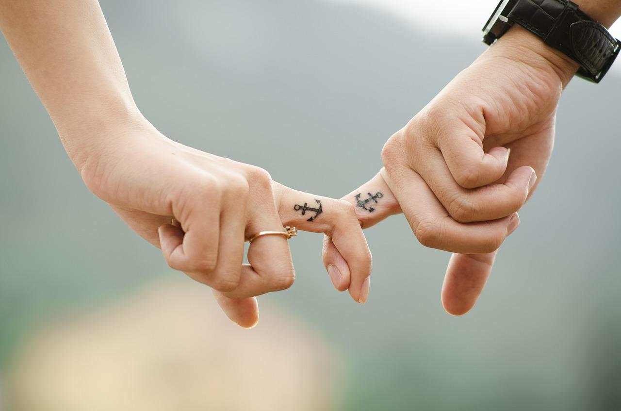 hands, tatoo, love
