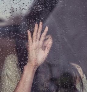 fata, tristete, ploaie