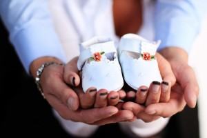 familie, papuci, bebelus