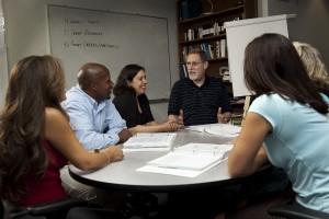 Profesor și studenți