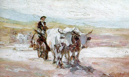"""Nicolae Grigorescu - """"Car cu boi"""" (1899)"""
